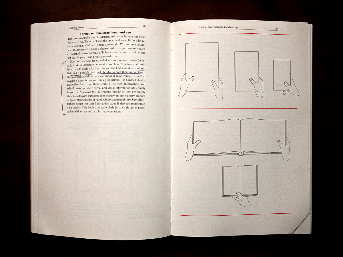 DESIGNING BOOKS — awareness of physicality